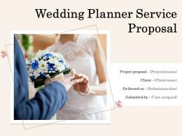 Wedding Planner Service Proposal Powerpoint Presentation Slides