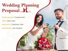 Wedding Planning Proposal Powerpoint Presentation Slides