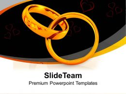 Wedding Rings Symbol Of Love Powerpoint Templates Ppt Themes And Graphics 0313