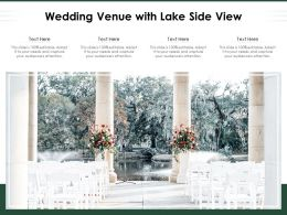 Wedding Venue With Lake Side View