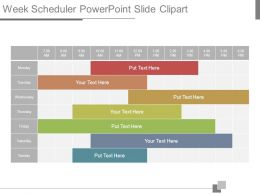 Week Scheduler Powerpoint Slide Clipart