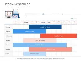 Week Scheduler Project Strategy Process Scope And Schedule Ppt File Templates