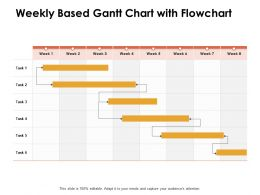 Weekly Based Gantt Chart With Flowchart Ppt Powerpoint Presentation Infographic