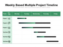 Weekly Based Multiple Project Timeline