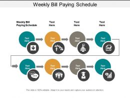Weekly Bill Paying Schedule Ppt Powerpoint Presentation Icon Graphics Download Cpb