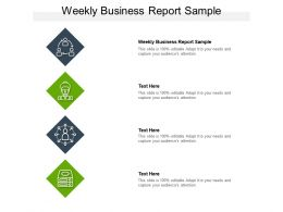 Weekly Business Report Sample Ppt Powerpoint Presentation File Gallery Cpb