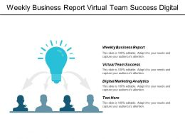 Weekly Business Report Virtual Team Success Digital Marketing Analytics Cpb