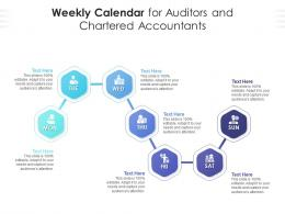 Weekly Calendar For Auditors And Chartered Accountants Infographic Template