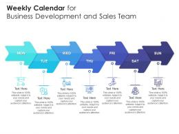 Weekly Calendar For Business Development And Sales Team Infographic Template