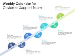 Weekly Calendar For Customer Support Team Infographic Template