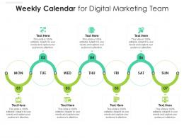 Weekly Calendar For Digital Marketing Team Infographic Template