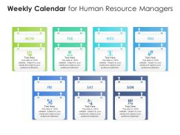 Weekly Calendar For Human Resource Managers Infographic Template