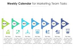 Weekly Calendar For Marketing Team Tasks Infographic Template
