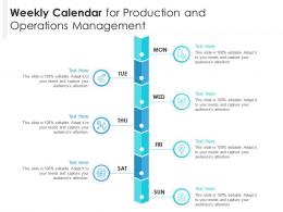 Weekly Calendar For Production And Operations Management Infographic Template