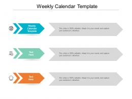 Weekly Calendar Template Ppt Powerpoint Presentation Gallery Templates Cpb