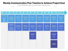 Weekly Communication Plan Timeline To Achieve Project Goal