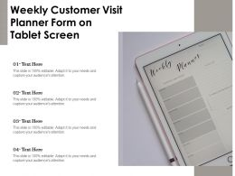 Weekly Customer Visit Planner Form On Tablet Screen