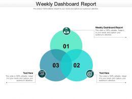 Weekly Dashboard Report Ppt Powerpoint Presentation Portfolio Inspiration Cpb
