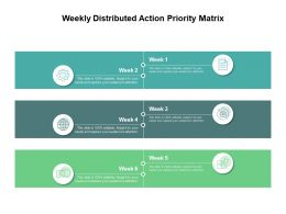 Weekly Distributed Action Priority Matrix