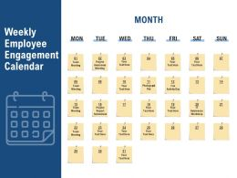 Weekly Employee Engagement Calendar