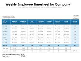 Weekly Employee Timesheet For Company