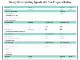 Weekly Group Meeting Agenda With Goal Progress Review