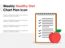 Weekly Healthy Diet Chart Plan Icon