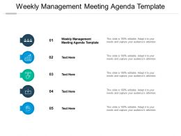 Weekly Management Meeting Agenda Template Ppt Powerpoint Presentation Slides Cpb