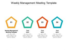 Weekly Management Meeting Template Ppt Powerpoint Presentation Summary Slides Cpb