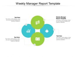 Weekly Manager Report Template Ppt Powerpoint Presentation Styles Background Image Cpb