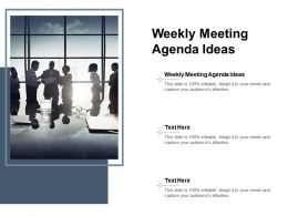 Weekly Meeting Agenda Ideas Ppt Powerpoint Presentation Infographic Template Display Cpb