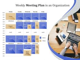 Weekly Meeting Plan In An Organization