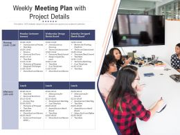 Weekly Meeting Plan With Project Details