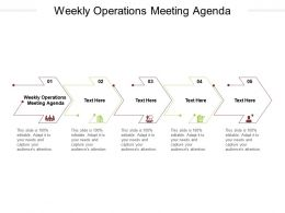 Weekly Operations Meeting Agenda Ppt Powerpoint Presentation Ideas Professional Cpb