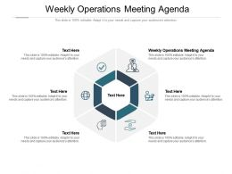 Weekly Operations Meeting Agenda Ppt Powerpoint Presentation Portfolio Good Cpb