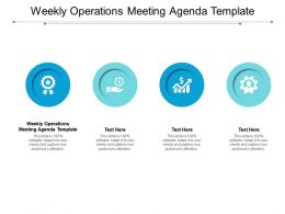 Weekly Operations Meeting Agenda Template Ppt Powerpoint Presentation Summary Background Designs Cpb