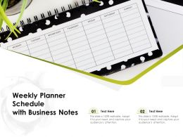 Weekly Planner Schedule With Business Notes