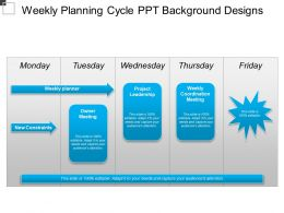 Weekly Planning Cycle Ppt Background Designs