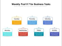 Weekly Post It 7 For Business Tasks