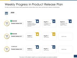 Weekly Progress In Product Release Plan Process Of Requirements Management Ppt Rules