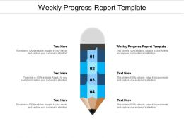 Weekly Progress Report Template Ppt Powerpoint Presentation Styles Mockup Cpb