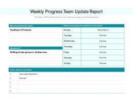 Weekly Progress Team Update Report