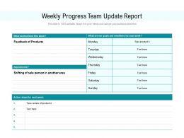 Weekly Progress Team Update Report