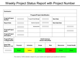 Weekly Project Status Report With Project Number