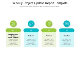 Weekly Project Update Report Template Ppt Powerpoint Show Design Templates Cpb