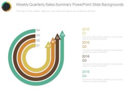 Weekly Quarterly Sales Summary Powerpoint Slide Backgrounds
