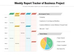 Weekly Report Tracker Of Business Project