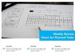 Weekly Review Sheet For Planned Tasks