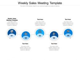 Weekly Sales Meeting Template Ppt Powerpoint Presentation File Themes Cpb