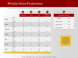 Weekly Sales Projections Daily Totals Ppt Powerpoint Presentation Icon Slide Portrait